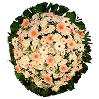 Best - Coroa de Flores Delicada Rosa
