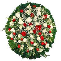 Best - Coroa de Flores Delicada Vermelha