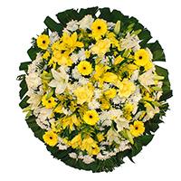 Best - Coroa de Flores Luxo Amarela