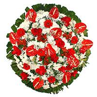 Best - Coroa de Flores Luxo Vermelha