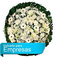 Best - Coroa de Flores Luxo Branca