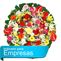 Best - Coroa de Flores Luxo Colorida