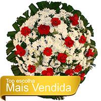 Best - Coroa de Flores Tradicional Vermelha
