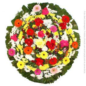 Coroa de Flores Tradicional Colorida