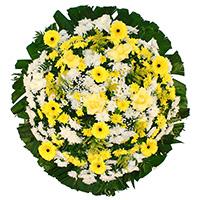 Best - Coroa de Flores Tradicional Amarela